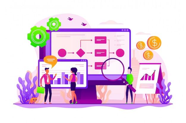 Business process analytics concept.