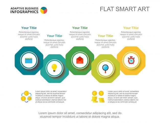 Business process chart slide template