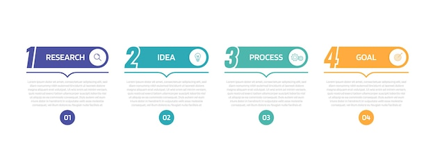 Business process infographic template with  options or steps.   illustration graphic .