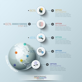 Business process infographic template