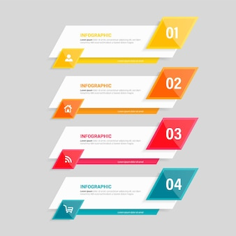 Шаблон инфографики бизнес-процесса