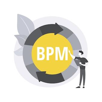 ビジネスプロセス管理の抽象的な概念図。 無料ベクター