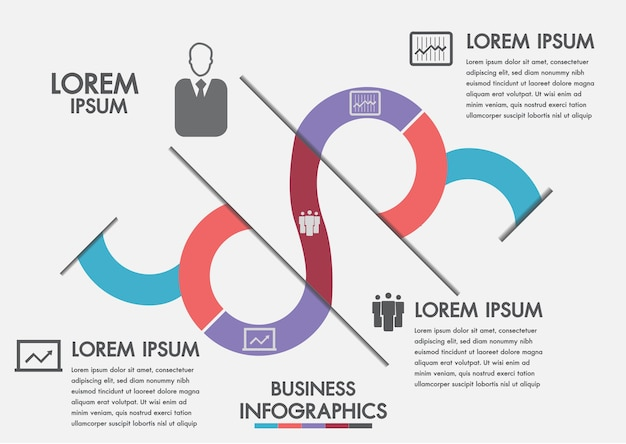 Business process. timeline infographics with 3 options, circles