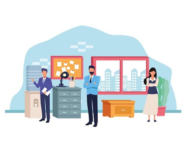 Business professional executive work cartoon