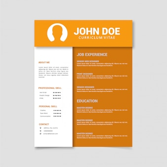 Business professional resume template