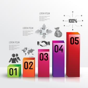 Business profit graph bar icon
