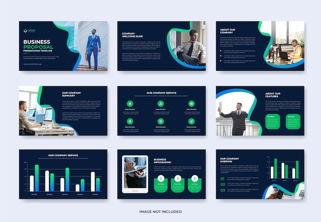 Business project proposal presentation slide template or company profile pwoerpoint template