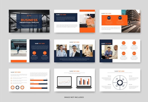 Business project proposal presentation slide template or company pwoerpoint template