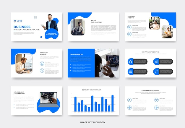 Business project proposal presentation slide template or corporate pwoerpoint template