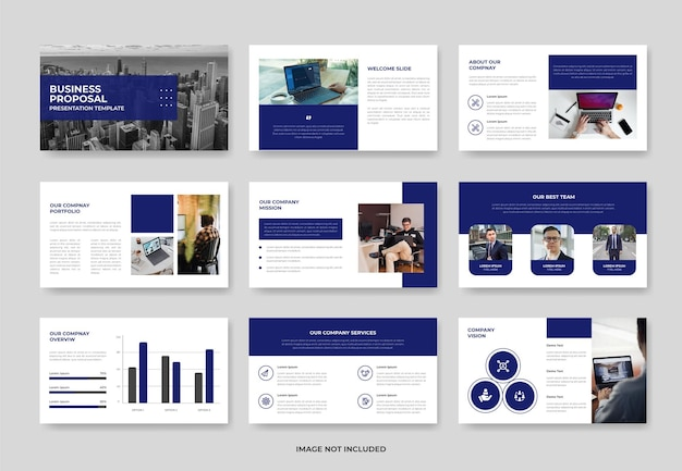 ビジネスプロジェクト提案プレゼンテーションスライドテンプレートまたは会社概要pwoerpointテンプレート