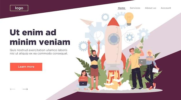 Business project start illustration