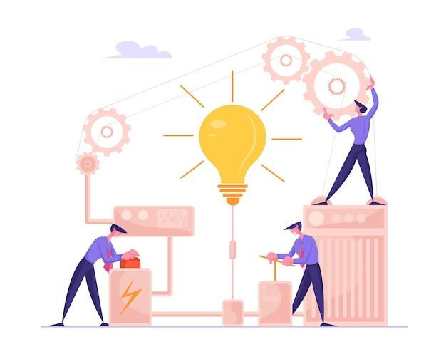 ビジネスプロジェクトのスタートアップ財務アイデアの実現と検索ソリューションの概念