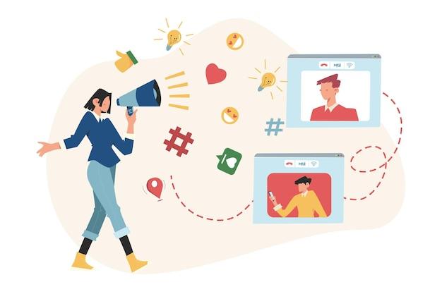 사업 홍보, 광고, 경적을 통한 전화, 온라인 경고