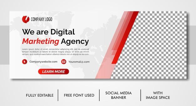 ビジネスプロモーションと企業のソーシャルメディアカバーテンプレート