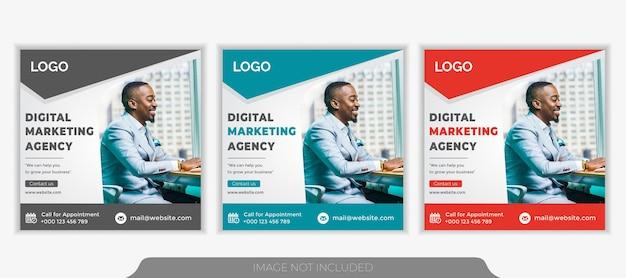 Агентство продвижения бизнеса и креативного маркетинга в социальных сетях instagram баннер шаблон