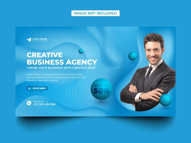 Business promotion and creative agency web banner post template