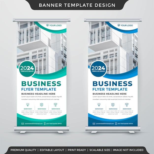Business promotion display banner template premium style