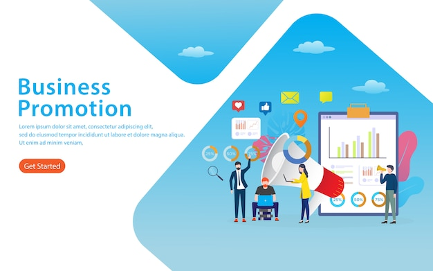 Business promotion landing page