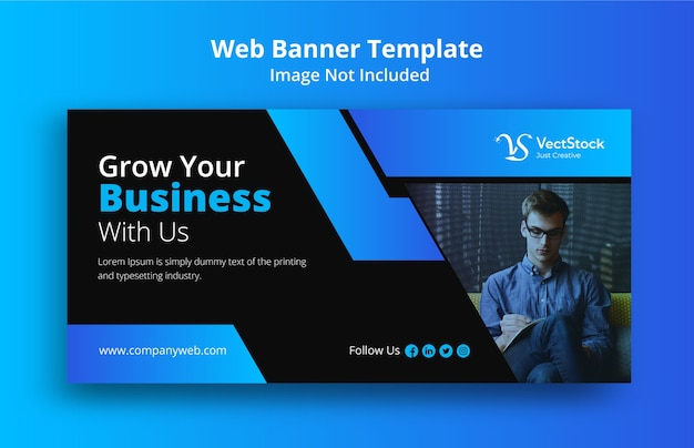 Business promotion web banner template design