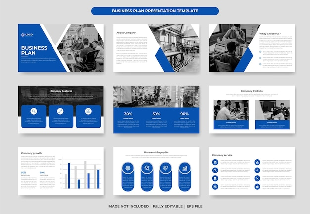 Business proposal presentation slide template or proposal project annual report company profile