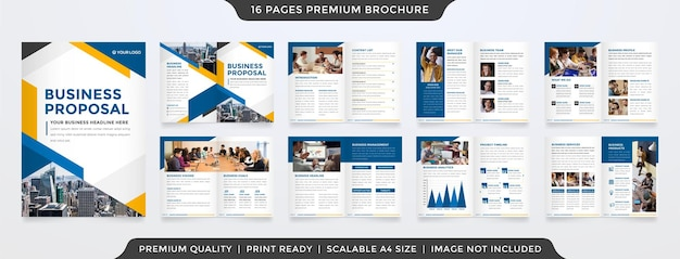 Business proposal template with minimalist and clean style Premium Vector