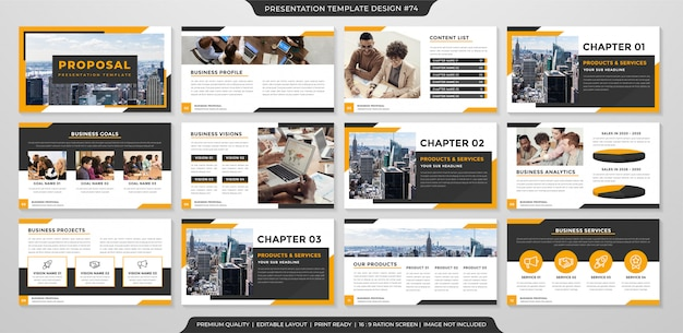 Business proposal template with premium style