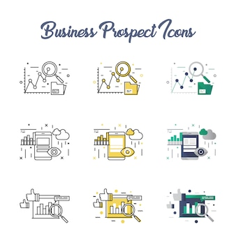 Business prospect icon set