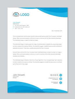 ビジネス目的または企業のレターヘッドテンプレート