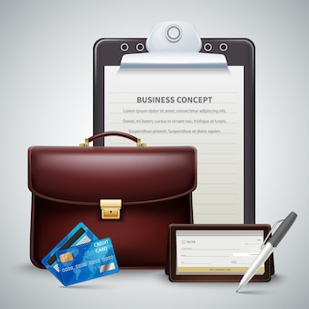 Business realistic concept