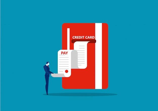 Бизнес получает отчет о счете личной кредитной карты