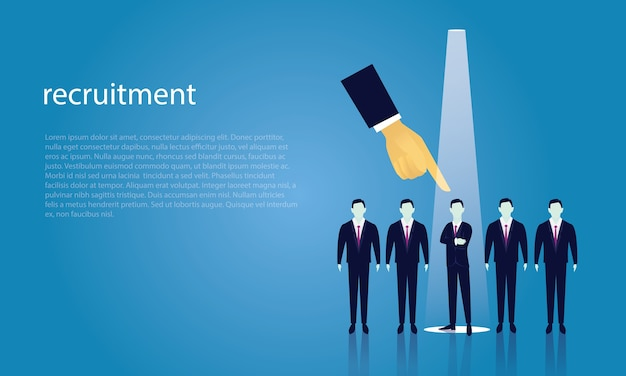 Business recruitment concept selecting businessman