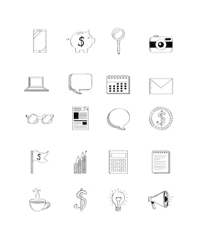 Business related icons