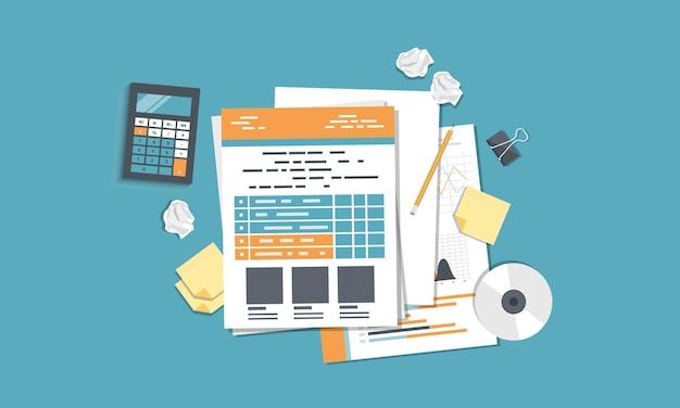 ビジネスレポートの会計と調査