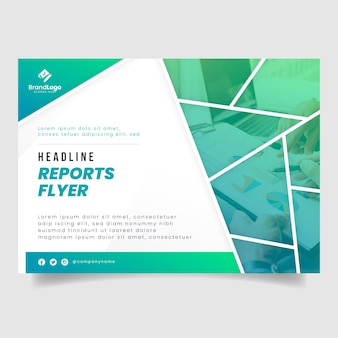 Business report flyer template