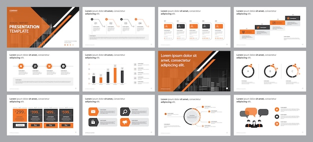 Business  report presentation design concept
