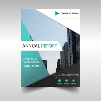 Business report template in abstract design