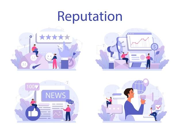 ビジネス評判の概念セット