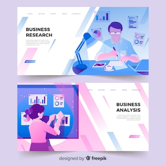 Business research landing page