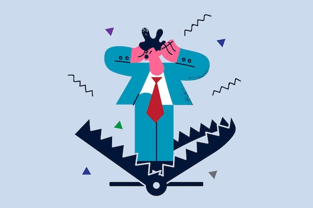 Business risks and fears illustration