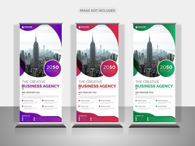 Business roll up banner or pull up banner design