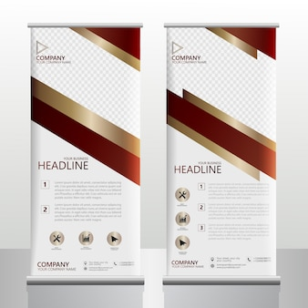 Business roll up banner royal theme