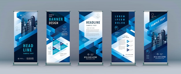 Business roll up banner set.