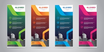 Business Roll Up Banner Standee Design