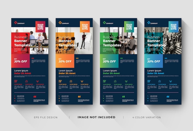 Business roll up banner templates Premium Vector