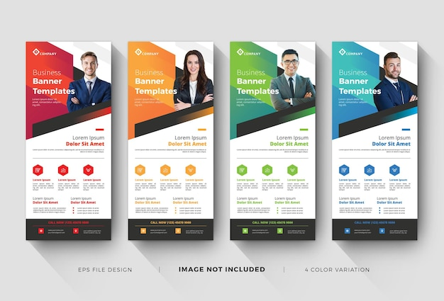 Business roll up banner templates