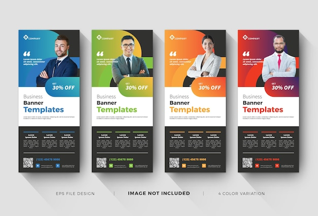Business roll up banner or x-banner templates