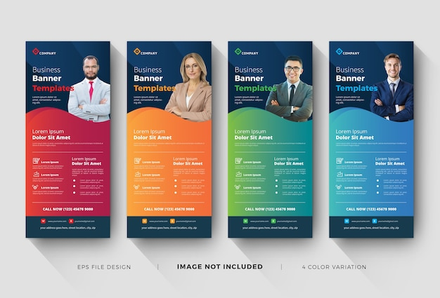 Business roll up corporate banner templates