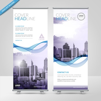 Business roll up design template