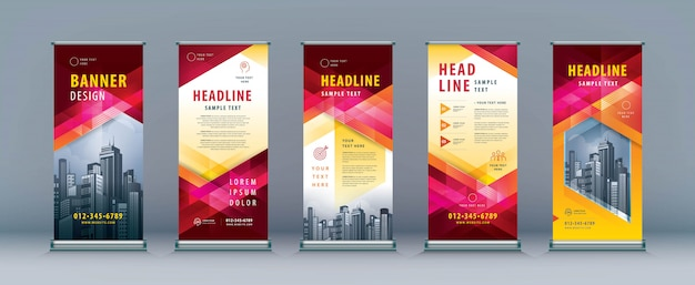 Business roll up set. standee design