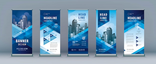 Business roll up set. standee design.